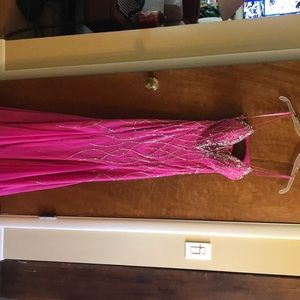 Pink pageant or prom dress